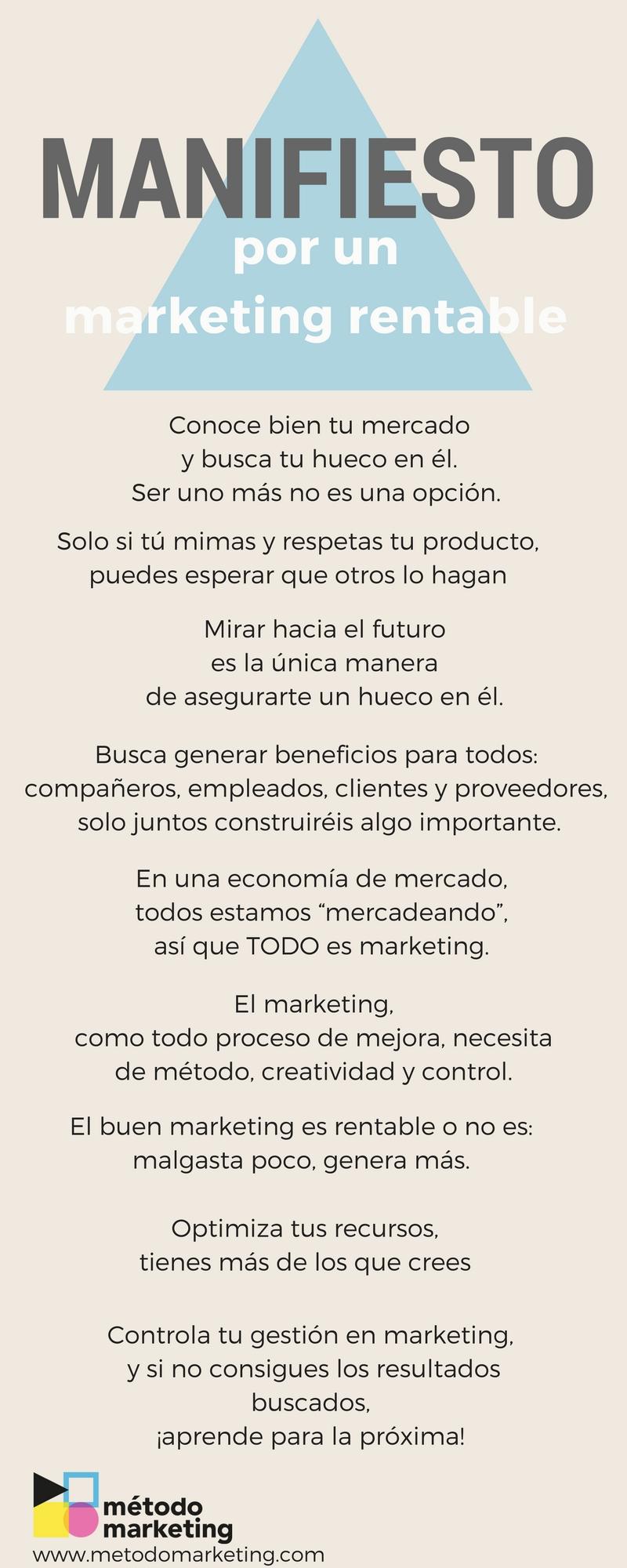 Manifiesto Método marketing