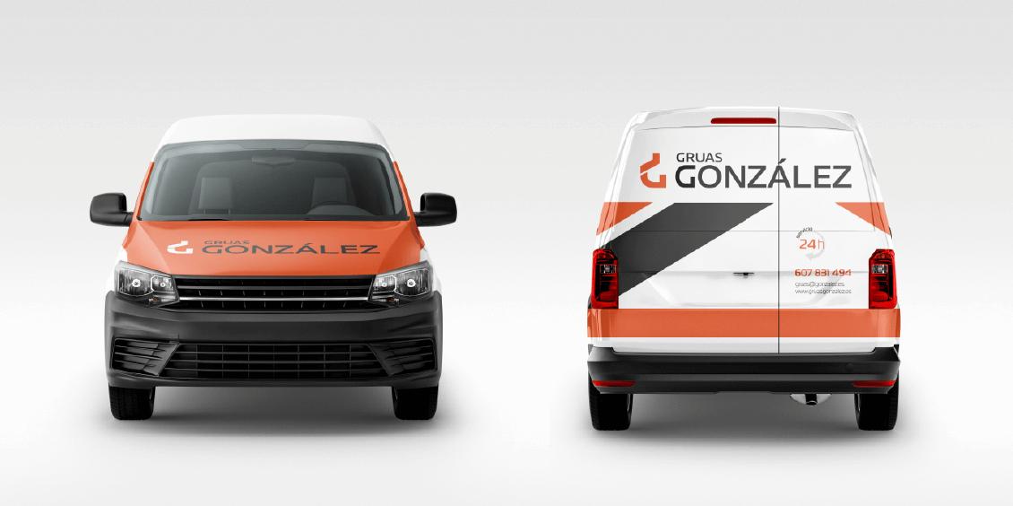 Rotulación vehículos Grúas González